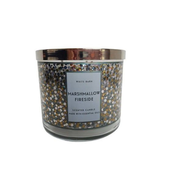 White Barn Marshmallow Fireside 3 wick Candle